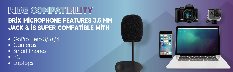 Brix Wireless Bluetooth Microphone with Speaker/Recording Feature