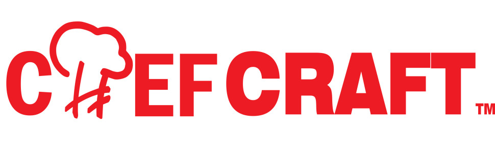 Chef craft logo in red lettering