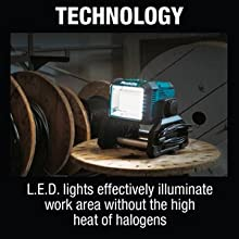 technology LED lights effectively illuminate wore area without the high heat of halogens