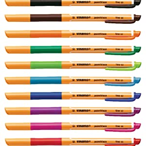 gel pens fine point medium blue black colored bullet journal planner writing stabilo pointvisco