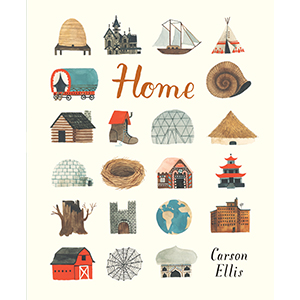 home; finding home; different homes; carson ellis; picture books; kids books; family; friendship