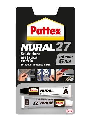 pattex nural sellador soldadura metálica rapido adhesivo pegamento metal reparar arreglar