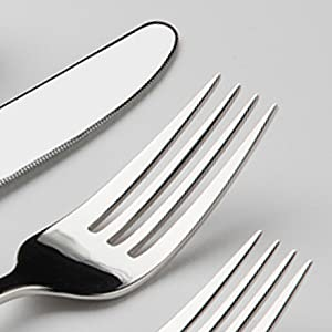 gourmet settings cubiertos para comer flatware silverware silver ware stainless steel premium modern