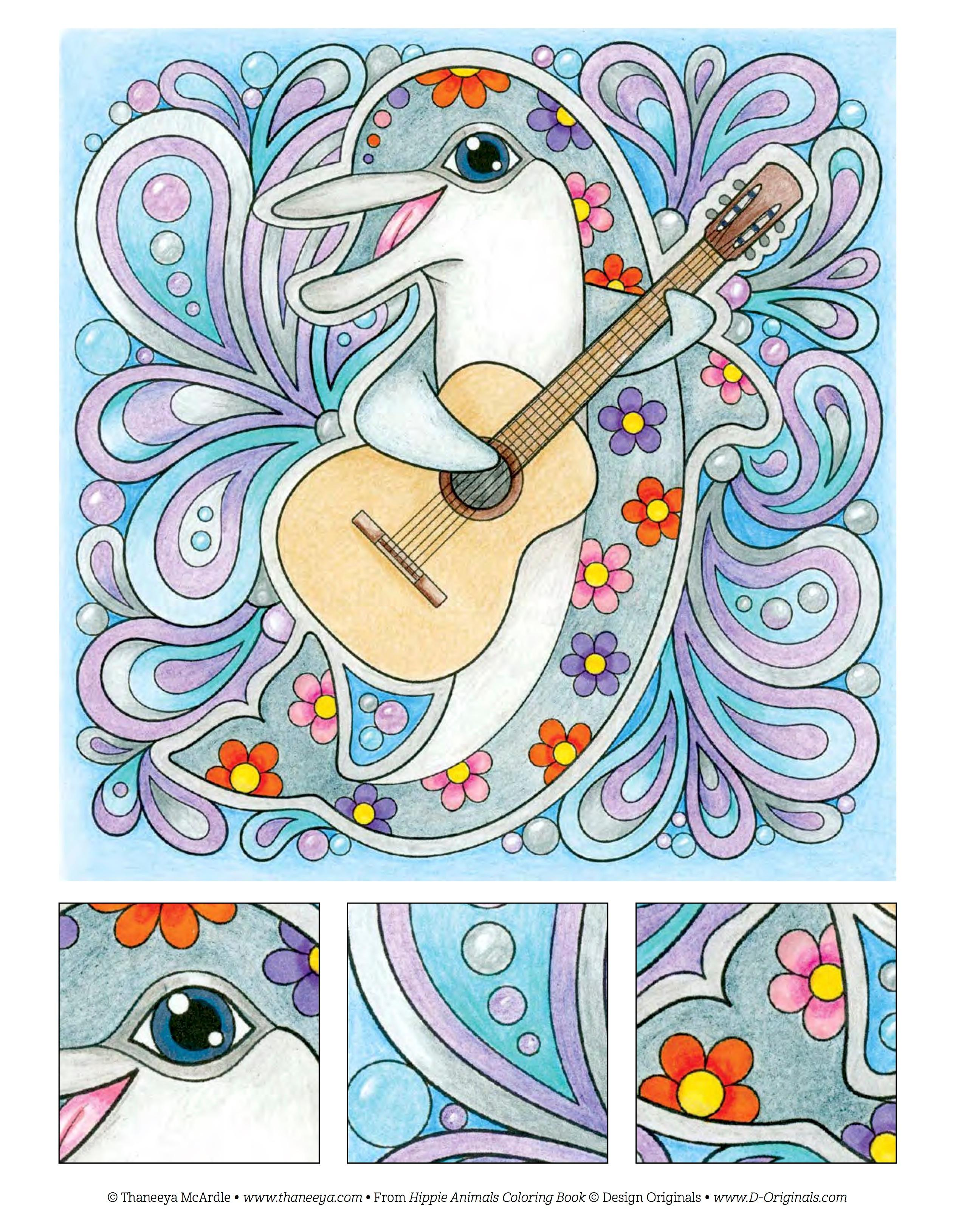 Amazon Hippie Animals Coloring Book Is Fun Design