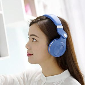 ASTROSOAR - Bluedio T2 Plus Turbine Wireless Bluetooth Headphones with Mic/Micro SD Card Slot/FM Radio