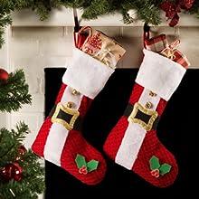 stockings,mantle,fireplace,children,stuffers,presents,ideas,santa,reindeer,santas belt