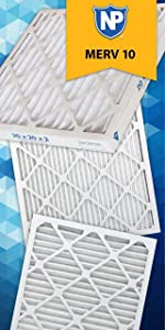 Nordic Pure 16x25x1 Merv 12 Pleated Ac Furnace Air Filter