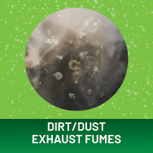 Dirt/Dust Exhaust Fumes