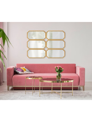 accent mirror chic minimalism minimal geometry decorative