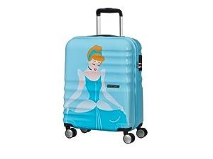wavebreaker disney; travel; disney suitcase; american tourister; cinderella; snow white; jasmine