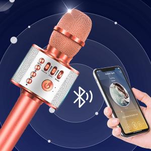 Dreamingbox Microphone Bluetooth Multifonction iOS//Android Cadeaux pour Enfants/&Ami/&Famille KTV//F/ête de Vacances