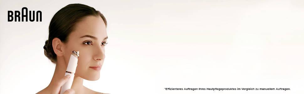 Máy cạo lông Braun FaceSpa Pro 912 dành cho tóc trên khuôn mặt, với 3 tính năng bổ sung, trắng / đồng