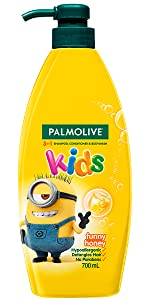Palmolive Kids 3 in 1 Shampoo, Conditioner & Body Wash Minions Funny Honey 700ml
