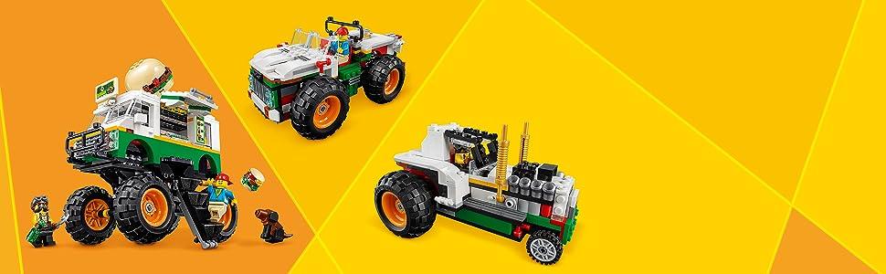 LEGO Creator - Monster Truck Hamburguesería, Juguete de ...