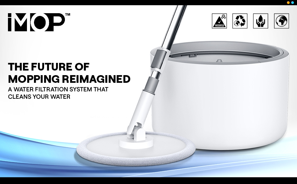 iMop spin mop with bucket for your easy floor cleaning