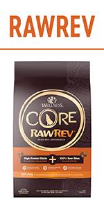 Grain Free raw dog food, CORE RawRev, High protein dog kibble, Raw dog food, Protein rich dog food