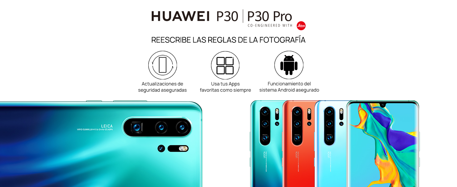 "Huawei P30 Pro de 6.47"" (RAM de 8 GB, Memoria interna de 128 GB, cámara de 40 MP)"