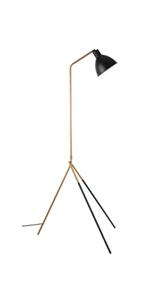 3 Fold Corner Tripod Floor Lamp Stand Natural Wood Decorative Floor Lamp