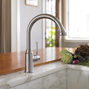 Hg Talis C Higharc Single Hole Kitchen Faucet W Pull Down