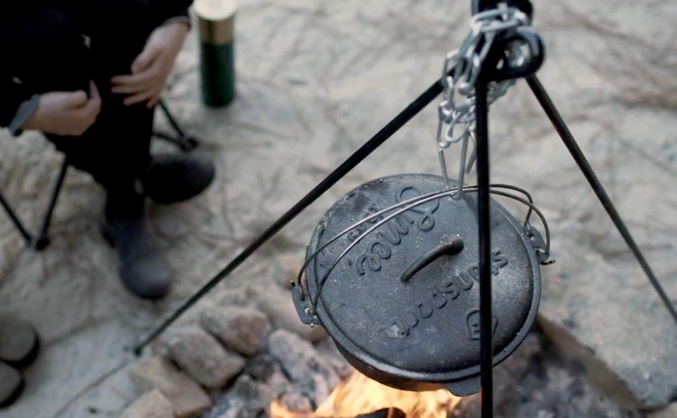 17.5 Inch Camping Stansport Tripod Cooker Grill
