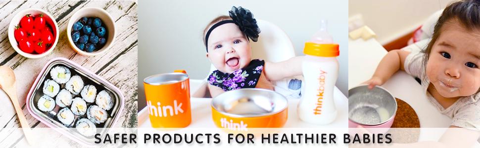 Think Pink Thinkbaby The Complete BPA-Free Feeding Set 1 Set