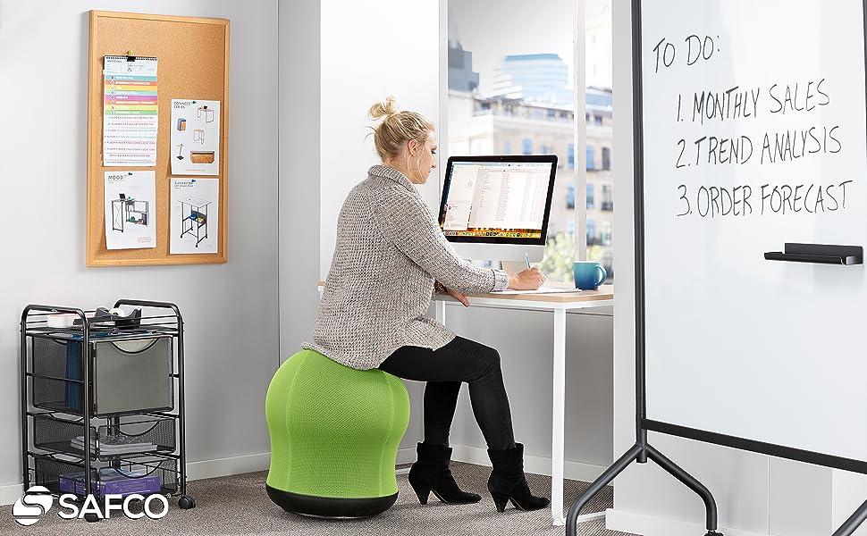 Pleasing Amazon Com Safco Zenergy Swivel Ball Chair Black Kitchen Unemploymentrelief Wooden Chair Designs For Living Room Unemploymentrelieforg