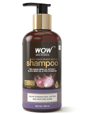 WOW Skin Science Red Onion Black Seed Oil Shampoo