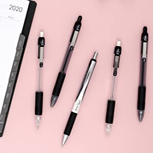 z-grip pens closeup, z-grip business colors, professional everyday pens, z-grip collection