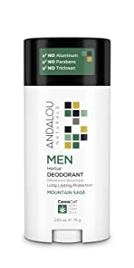 men natural deodorant, andalou naturals