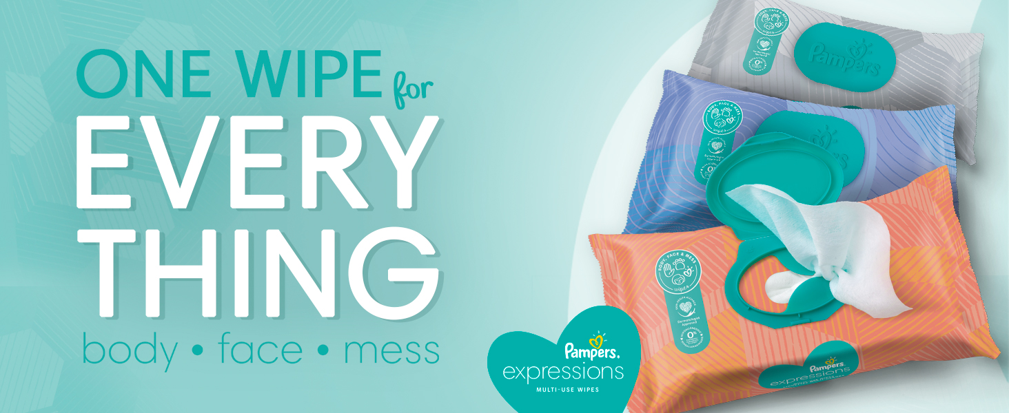 Pampers Expression Wipes - Fresh Bloom
