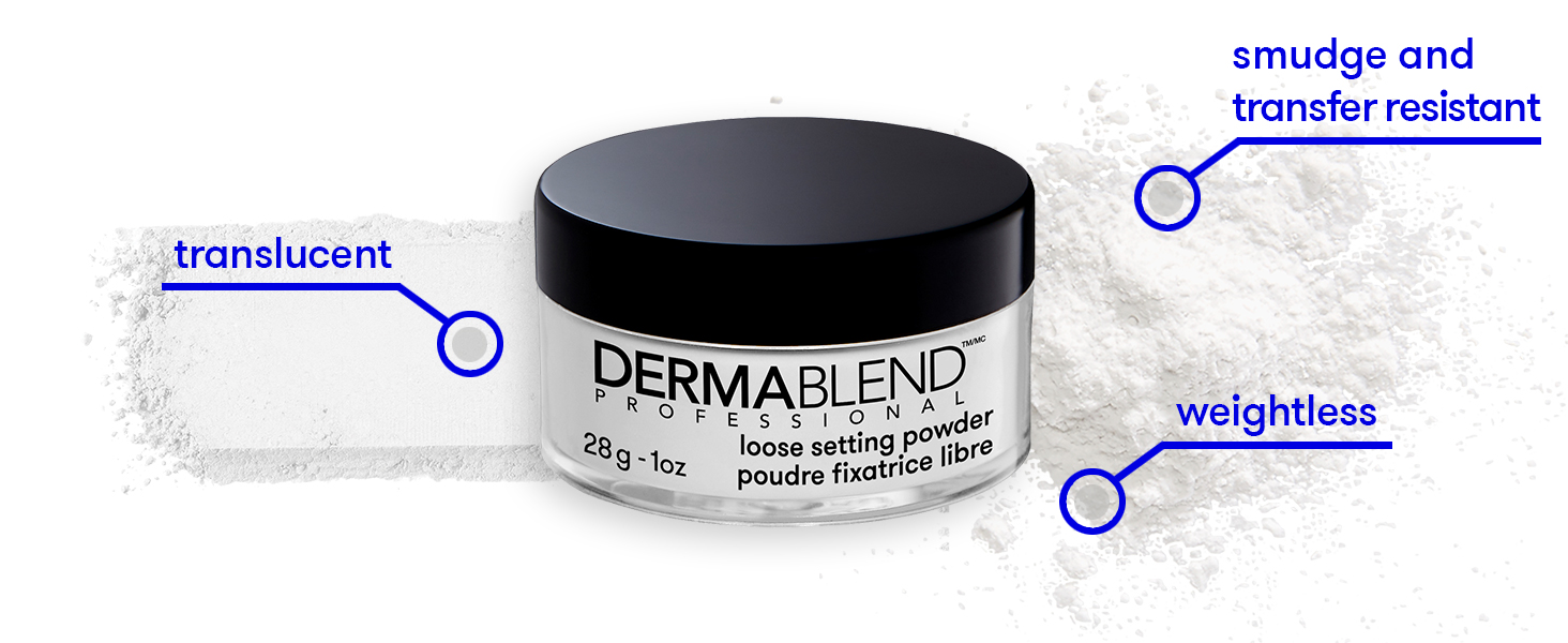dermablend loose setting powder setting powder makeup face powder face makeup foundation
