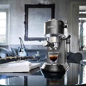 Black Coffee machine DeLonghi Dedica