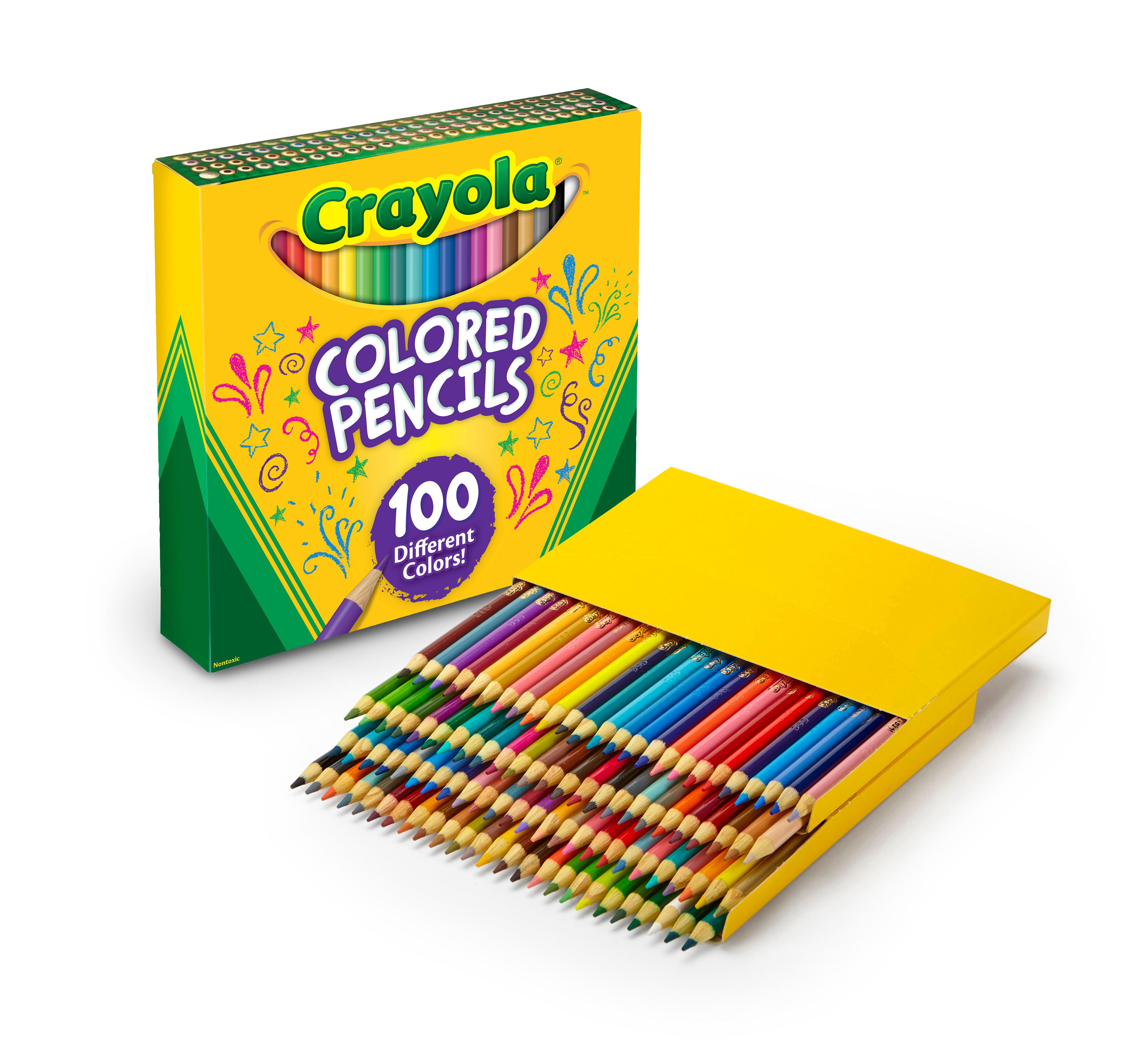 Crayola different colored pencils 100 count for Colored pencil coloring pages