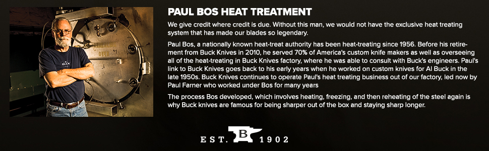 Paul Bos Heat Treatment Gives Buck Knives the Edge Over the Copetition Sharper Out of the Box