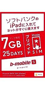 ソフトバンク iPad 7GB マイクロ