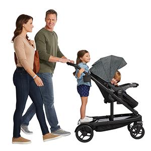 forward-facing toddler seat and standing platform