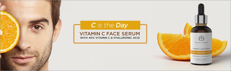 Vitamin C Face serum skin hyaluronic acid boosts collagen even tone