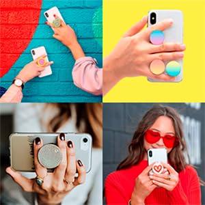 PopSockets PopGrip - Soporte y Agarre para Teléfonos Móviles y Tabletas con un Top Intercambiable: Amazon.es: Electrónica