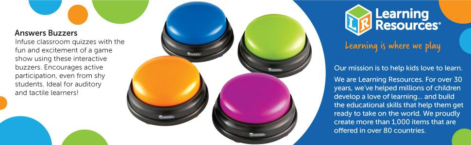 Amazon Learning Resources Answer Buzzers Set Of 4 Toys Games