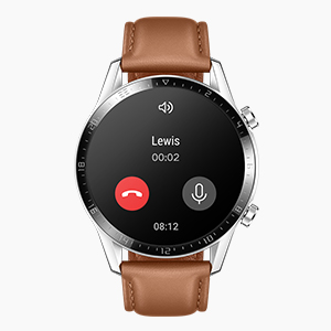 Thanks to the Bluetooth Calling feature of HUAWEI WATCH GT 2, you can make or receive calls