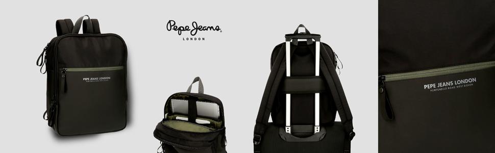 mochila portaordenador negra