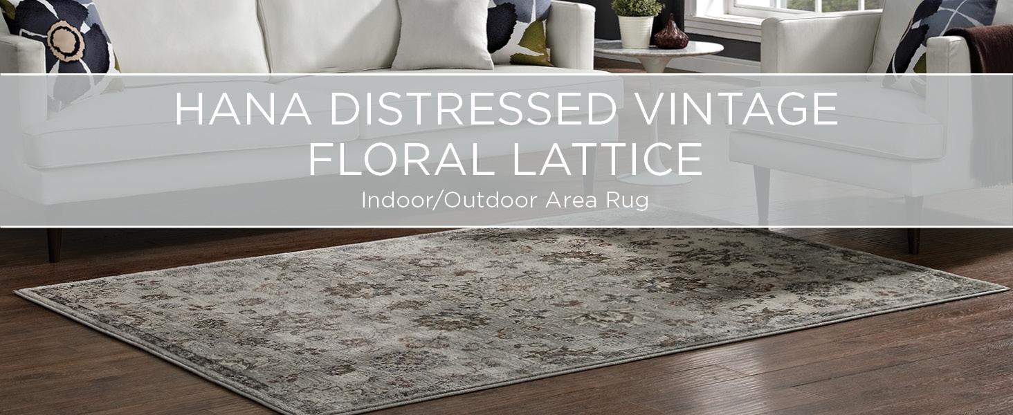 Indoor, Outdoor, Area Rug, Vintage, Floral Lattice, Living Room, Bed Room, Entryway, Kitchen, Style