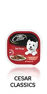 Cesar Classics Canine Cuisine, Classic Pate Dog Food, Soft Dog Food, Meals, Gourmet