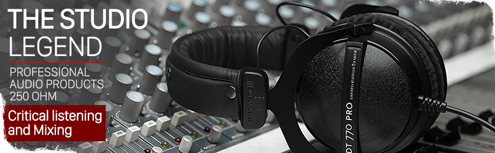 Beyerdynamic DT 770 dt770 pro professional studio mixing audio recording mixing headphones over-ear