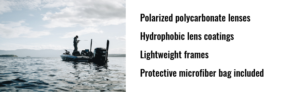 polarized sunglasses hydrophobic lightweight