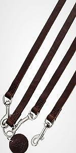 HUNTER SOLID EDUCATION Hundef/ührleine mit handgeflochtenen Elementen geschmeidigem Rindsleder aus robustem