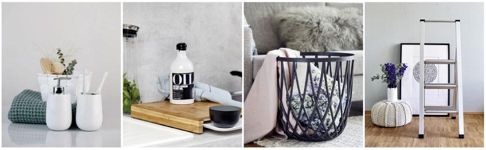 WENKO signifi ca gamma di prodotti per il bagno, la cucina, la biancheria e la casa
