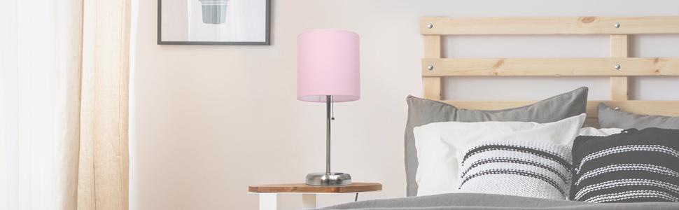 blush pink lt2024 charging bedside lamp desk