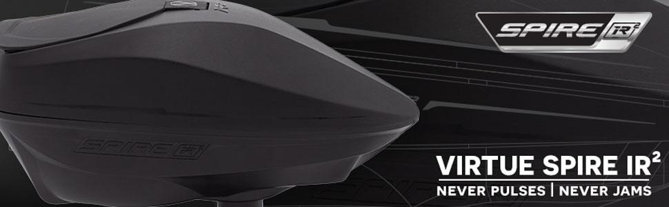 Virtue Spire IV 280 électronique Paintball Loader//Hopper-Noir