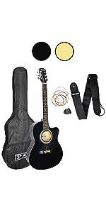 3rd Avenue Pack de guitarra acústica, Azul (Blueburst), Acústico ...